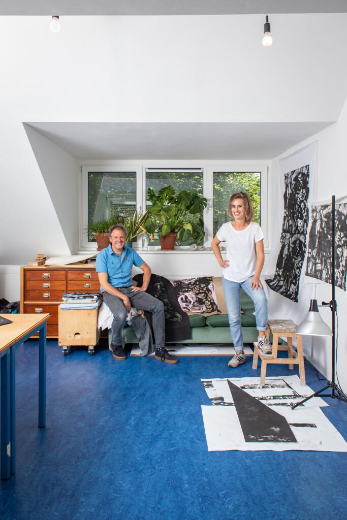 Dubbelportret Rozemarijn Westerink en Frank Halmans voor K.F. Hein