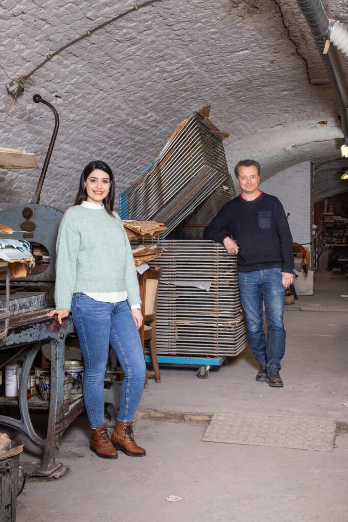 Dubbelportret Elnaz Ghaemi en Jeroen Hermkens voor K.F. Hein Fonds