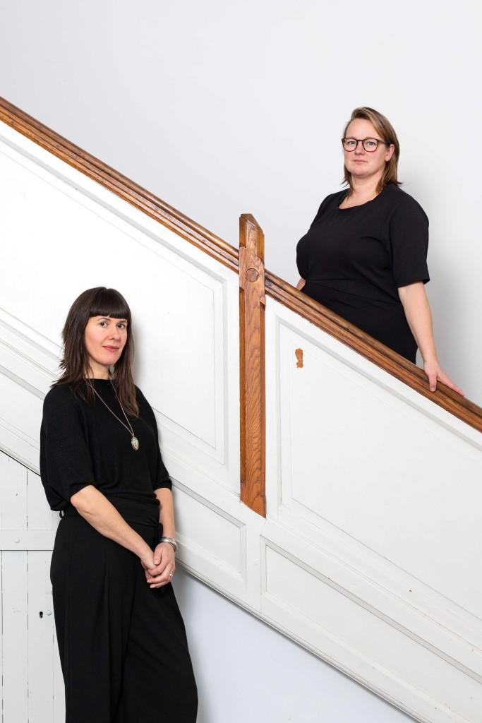 Dubbelportret Lotte van Laatum en Heidi de Gier voor K.F. Hein Fonds